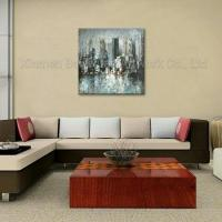 Cheap 100% Handmade Streched Abstract Street Oil Painting wholesale