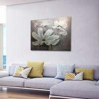 Cheap Modern White Chrysanthemum Flower Wall Decoration Oil Painting wholesale