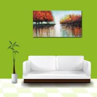 Cheap Handmade Chinese Beautiful Landscape Oil Painting on Canvas wholesale