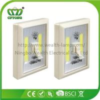 Cheap Promotion Magnetic Velcro Plastic 6W COB LED Wall Switch Light with CE RoHS BSCI wholesale