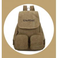 Cheap Popular Waxed Canvas Backpack for Girls, Fashionable Casual Gear Backpack Factory Price wholesale