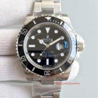 Cheap Noob Factory Replica Rolex Submariner Watch - SS Black Ceramic 40mm - Upgraded Version wholesale