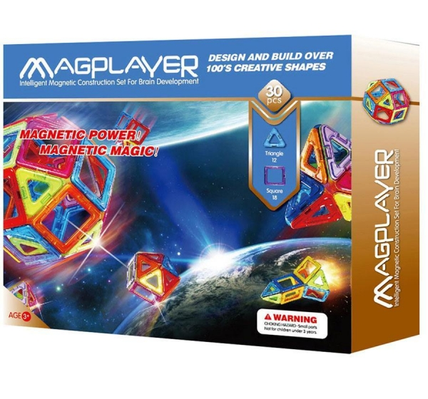 Quality Magplayer Rainbow Set Kids Magnetic Toys Puzzles Recyclable for sale