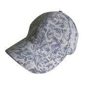 Cheap Floral Lace Panel Vented Adjustable Precurved Baseball Cap, Hat, Blue wholesale