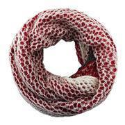 Cheap Mermaid style red and white special knitted loop/acrylic scarves wholesale