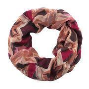 Cheap 17 fashionable star and maple printing polyester/double-layered snood, berry wholesale