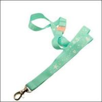 Buy cheap Green Color Ordinary Plain Weaving Style Polyester Satin Lanyards from wholesalers