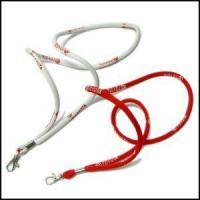 Cheap Round High Elastic Cord Woven Logo Lanyards wholesale