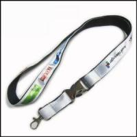 Cheap Heat-transferred Satin Lanyard for Adverting Gift wholesale