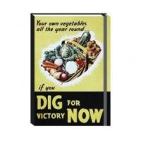 Dig for Victory Notebook A6 Ruled Hardback Journal Robert Opie Retro