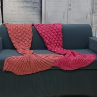 Acrylic Knit Mermaid Tail Blanket