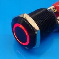 Cheap 12mm Anti Vandal Momentary Red Ring Switch wholesale