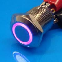 Cheap 12mm Anti Vandal Momentary Purple Ring Switch wholesale