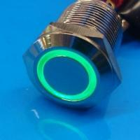Cheap 12mm Anti Vandal Momentary Green Ring Switch wholesale