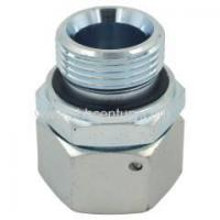 China Carbon Steel Metric hydraulic fitting with swivel nut and captive seal on sale