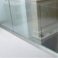 Cheap Indoor u channel aluminium frameless laminated glass railing for stairwell wholesale