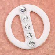 Rhinestone Buckle, Measuring 22 x 22mm, Applied for Strap, Scarf and Ribbon
