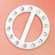 Cheap Round Belt Buckles, Decorated with Rhinestones, Measuring 42 x 42mm wholesale