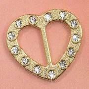 Cheap Rhinestone Buckle, Measuring 22 x 20mm, Applied for Garments and Underwears wholesale