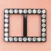 Cheap Rectangular Belt Buckles, Decorated with Rhinestones, Measuring 38 x 30mm wholesale