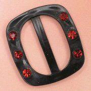 Cheap Square Belt Buckles, Decorated with Rhinestones, Applied for Brassiere, Underwear and Lingeries wholesale