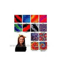 Cheap Tie dye bandanna with wax printing multi color design. wholesale