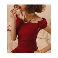 Cheap European Fashion Style Sleeveless Off the Shoulder Boat Neck Bowtie Lady Night Out Dress wholesale