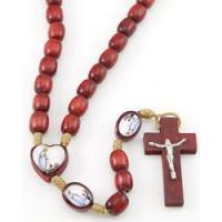 China Our lady of Lourdes Rosary, sandalwood on sale