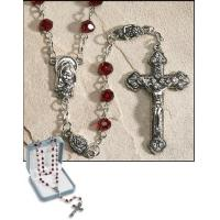 China 22.5 Inches Long Ave Maria January (Garnet) Birthstone Rosary on sale