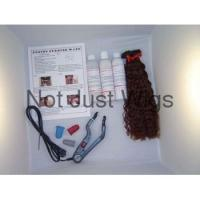 """Fusion Wand Kit 15"""" Curly PreGlued Human Hair Extension"""