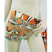 Cheap Belly dance Hip Scarf - Tie Dye Orange, Black and Silver wholesale