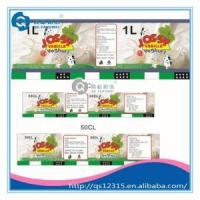 Cheap customed all kinds of food bottle labels wholesale