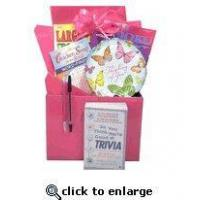 Cheap Gift for Cancer Patient |Boredom Buster Get Well Gift Basket with Book in Pink wholesale
