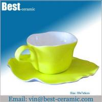 Cheap Ceramic cup&saucer ceramic breakfast cup and saucer wholesale