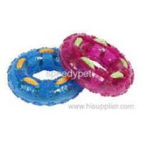 New Fashion Soft Rubber Chew TPR Pet tyre toys with rope