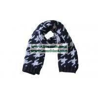 Women fashion knitting scarf Fashion Knitting Long Scarf With Houndstooth