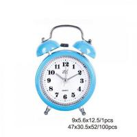 Cheap Blue Plastic Twin Bell Alarm Clock AM0009C for sale