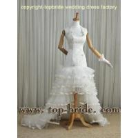 VIC123 2012 Latest Custom Made Wholesale sexy Mermaid halter appliqued Bridal Gowns