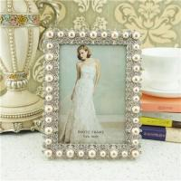 Cheap Metal photo frame/elegant pearl photo frame wholesale