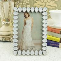 Cheap Metal photo frame/teardrop crystals photo frame wholesale
