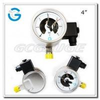 Cheap Electric contact pressure gauges 4 inch dial with all stainless steel bottom connection wholesale