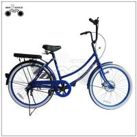 Cheap 24inch single speed colorful lady`s city bicycle wholesale