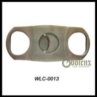 Cheap Double Blade Stainless Steel Cigar Cutter wholesale