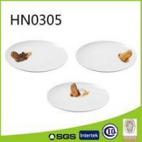 Cheap personalized round shaped porcelain dessert plate wholesale