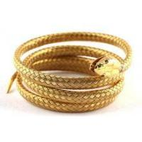 Cheap stainless steel simulation gold snake bangle wholesale