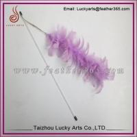 China Lucky Arts Funny Play Cat Toy Pet Accessory Cat Teaser Feather toy on sale