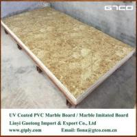 Cheap UV coated PVC marble texture sheet for wall panel wholesale