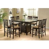 Cheap Coaster Hyde Counter Height Square Dining Table with Storage Base in Cappuccino(Table only) wholesale