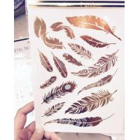 Cheap Crystal Sticker Metal Gold Silver Color Tattoo wholesale