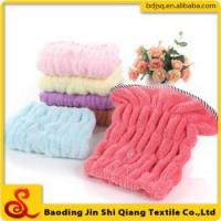 The new beautiful color coral fleece dry hair cap bath cap